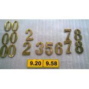 Numeros portal de bronce