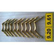Tirador dorado de bronce